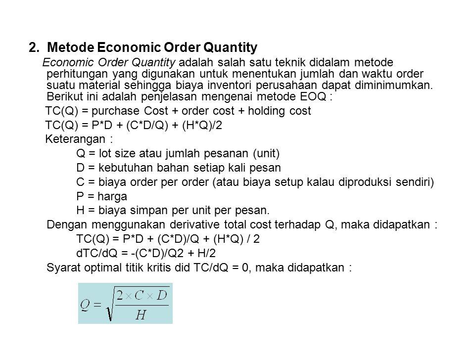 2. Metode Economic Order Quantity
