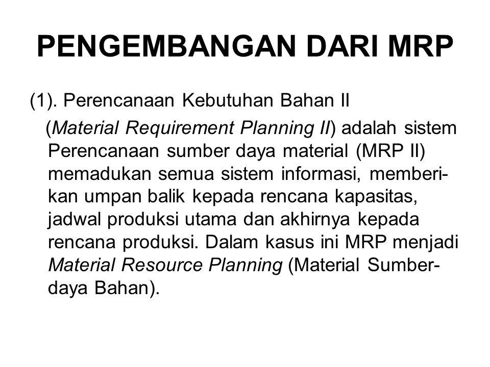 PENGEMBANGAN DARI MRP (1). Perencanaan Kebutuhan Bahan II