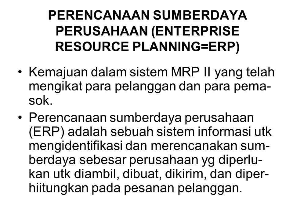 PERENCANAAN SUMBERDAYA PERUSAHAAN (ENTERPRISE RESOURCE PLANNING=ERP)