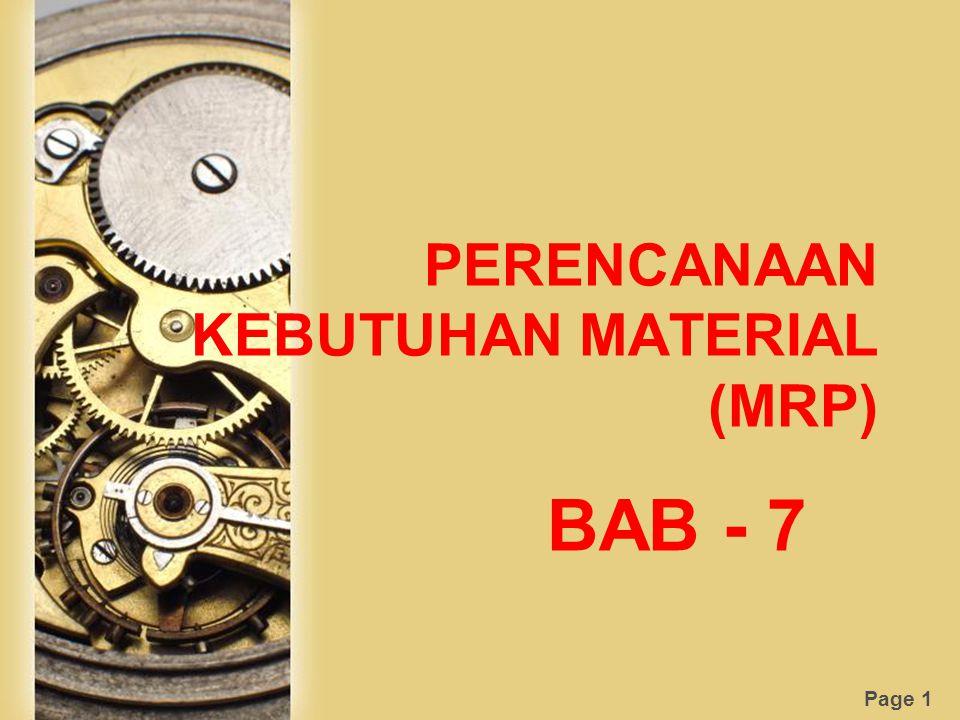 PERENCANAAN KEBUTUHAN MATERIAL (MRP)
