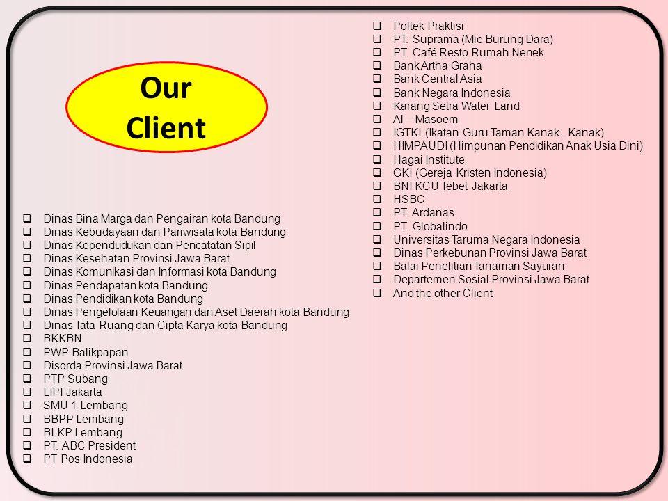 Our Client Poltek Praktisi PT. Suprama (Mie Burung Dara)