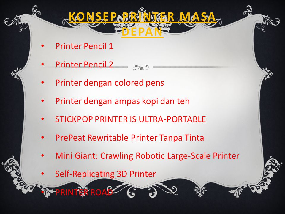 Konsep Printer Masa depan