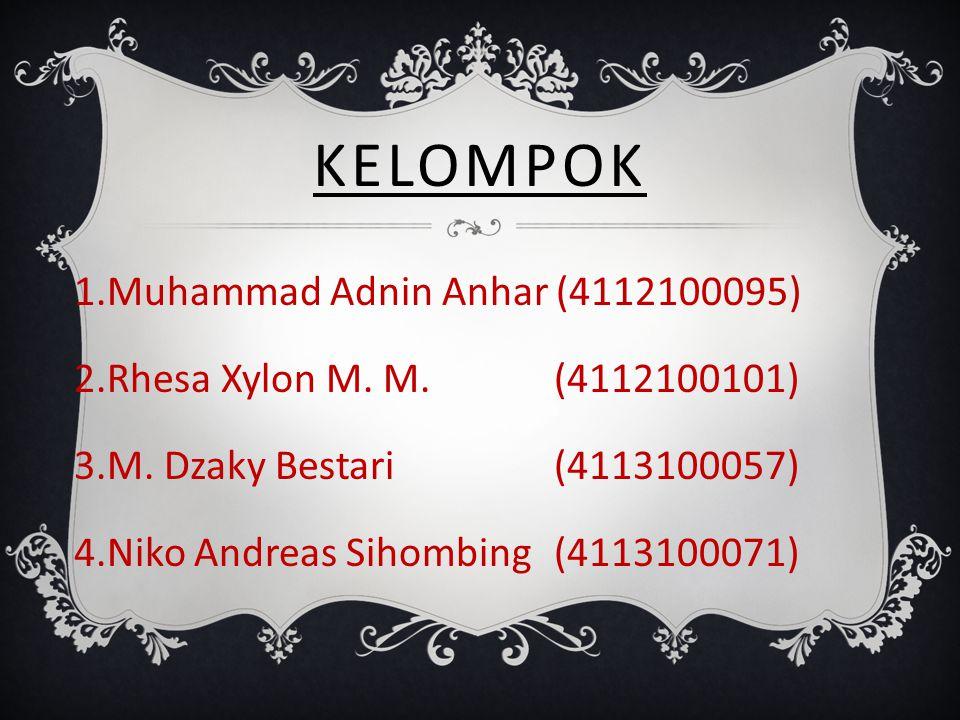 Kelompok Muhammad Adnin Anhar (4112100095)