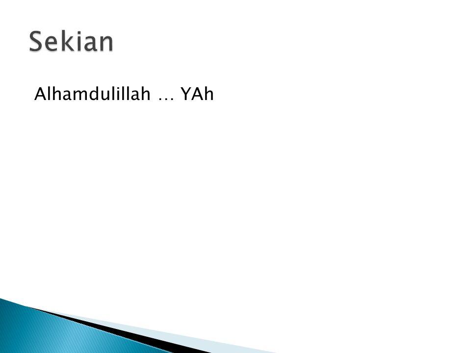 Sekian Alhamdulillah … YAh