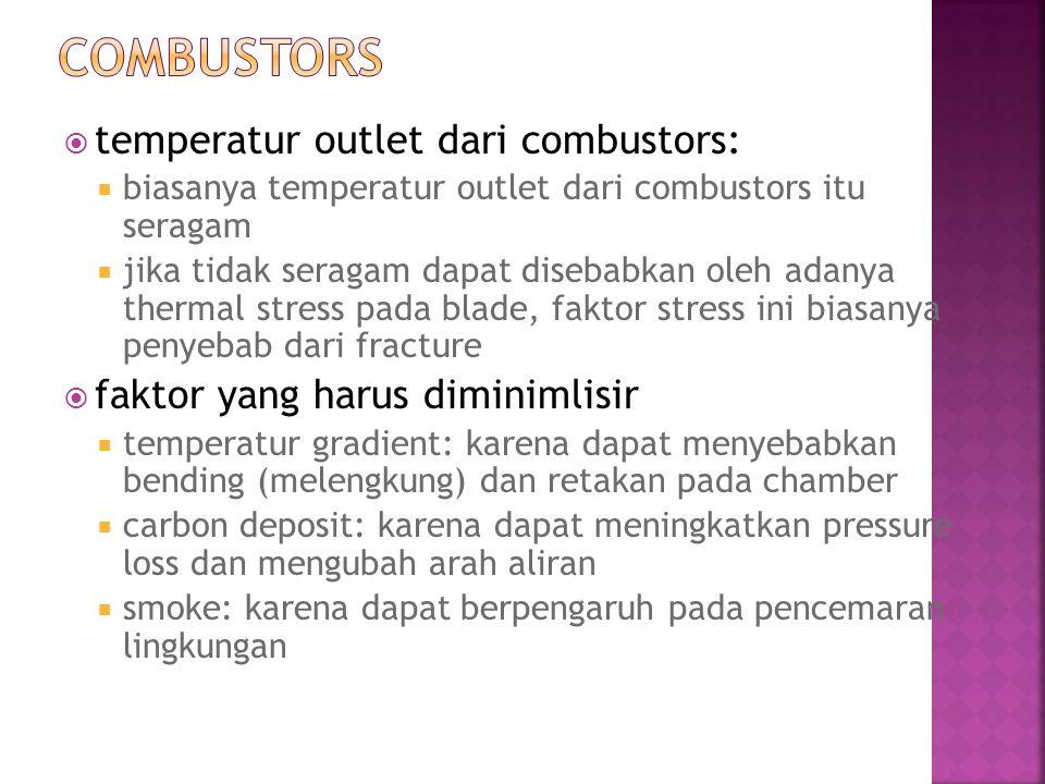 Combustors temperatur outlet dari combustors: