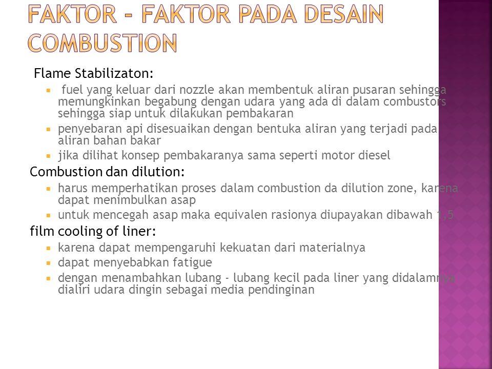 faktor - faktor pada desain combustion