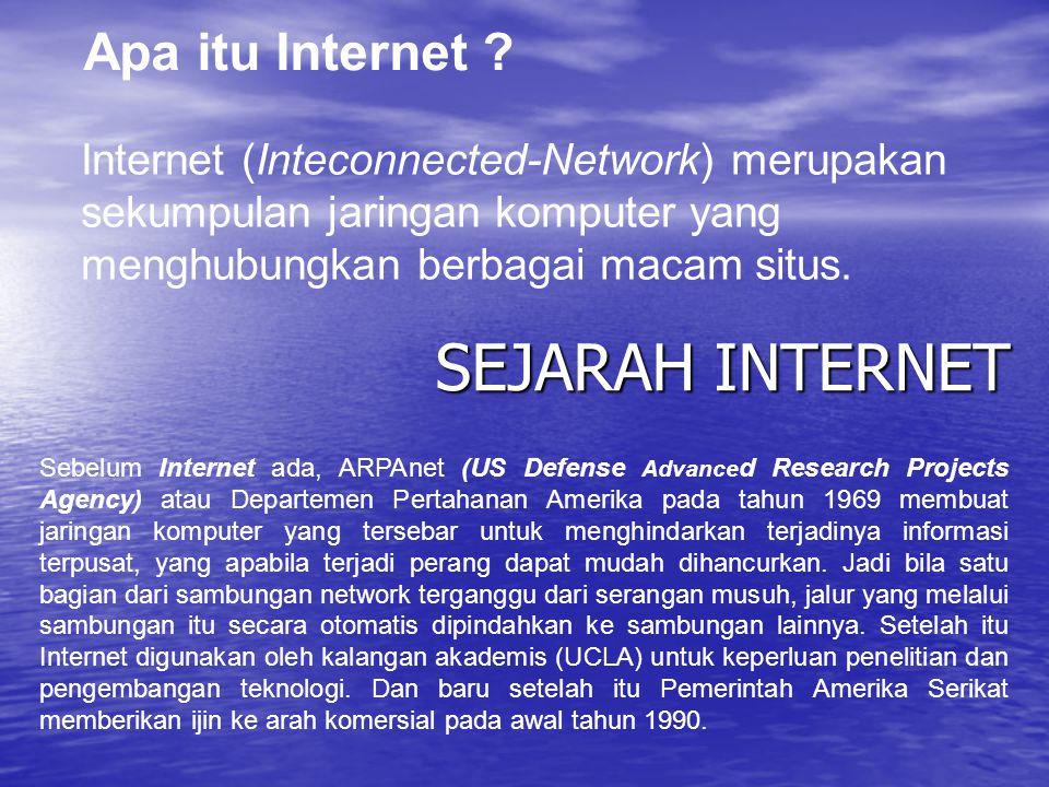 SEJARAH INTERNET Apa itu Internet