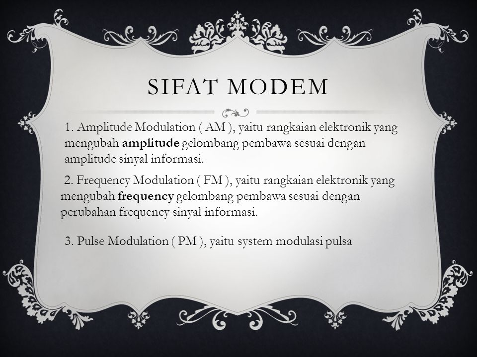 Sifat modem