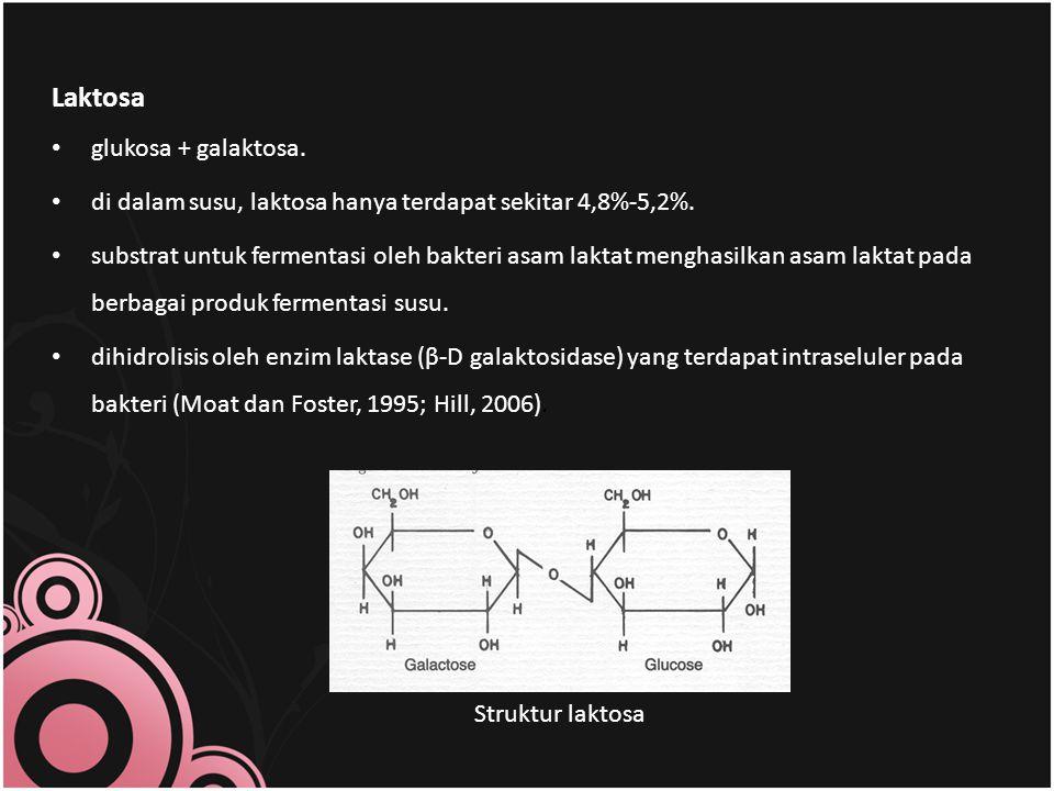 Laktosa glukosa + galaktosa.