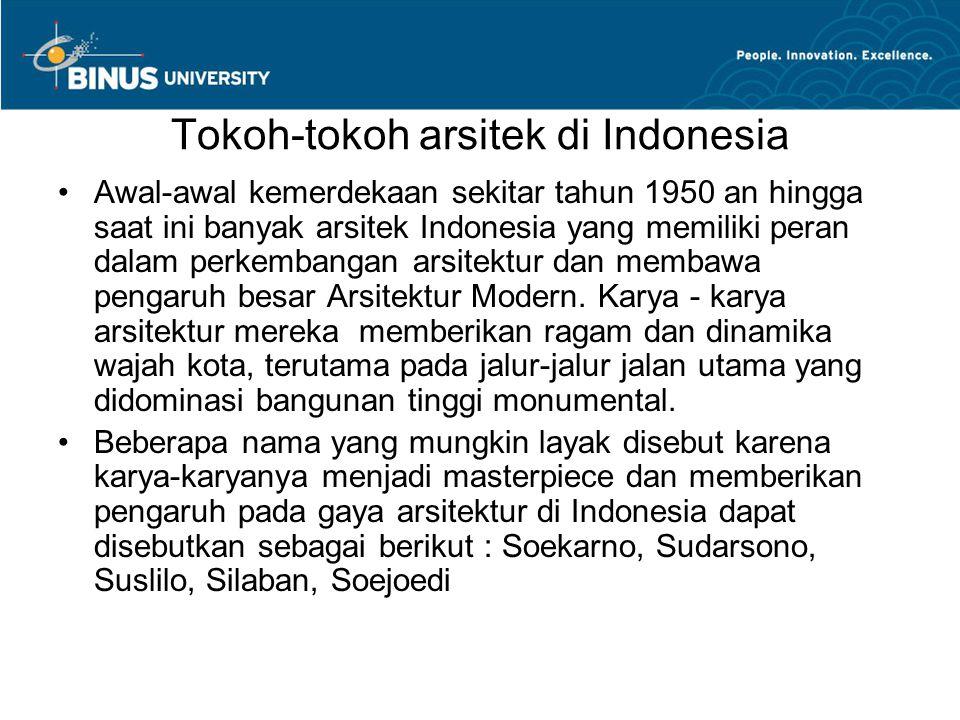 Tokoh-tokoh arsitek di Indonesia