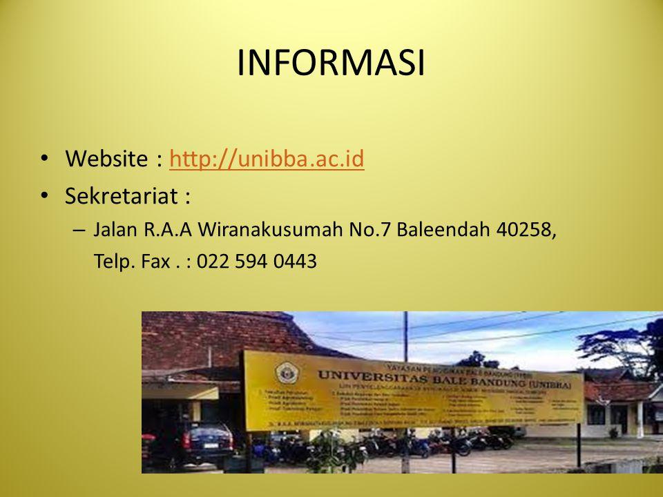 INFORMASI Website : http://unibba.ac.id Sekretariat :