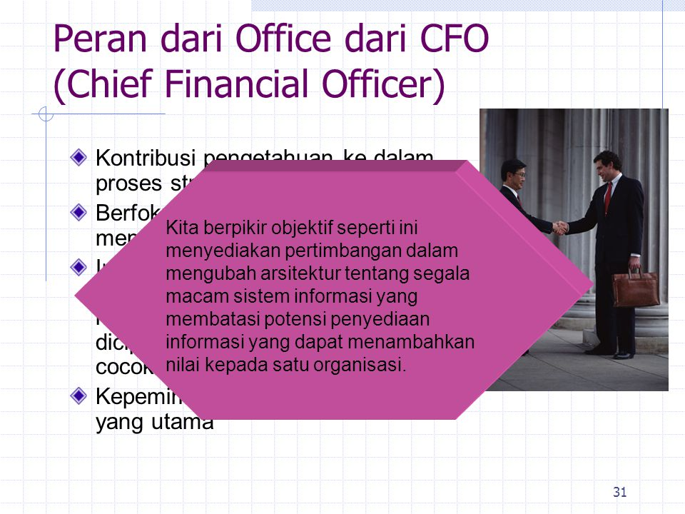 Peran dari Office dari CFO (Chief Financial Officer)
