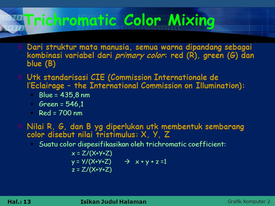 Trichromatic Color Mixing