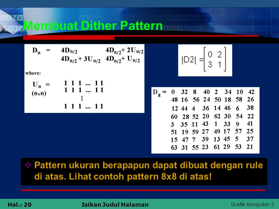 Membuat Dither Pattern