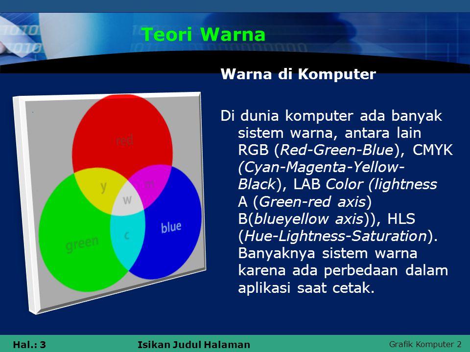 Teori Warna Warna di Komputer