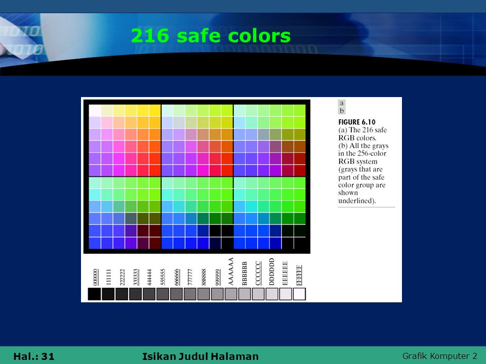 216 safe colors