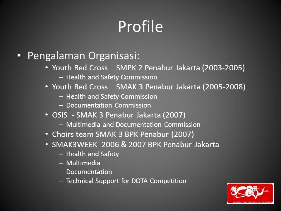 Profile Pengalaman Organisasi: