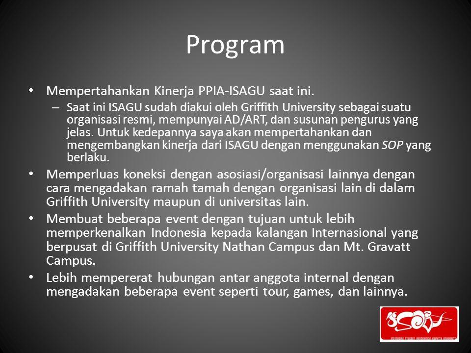Program Mempertahankan Kinerja PPIA-ISAGU saat ini.