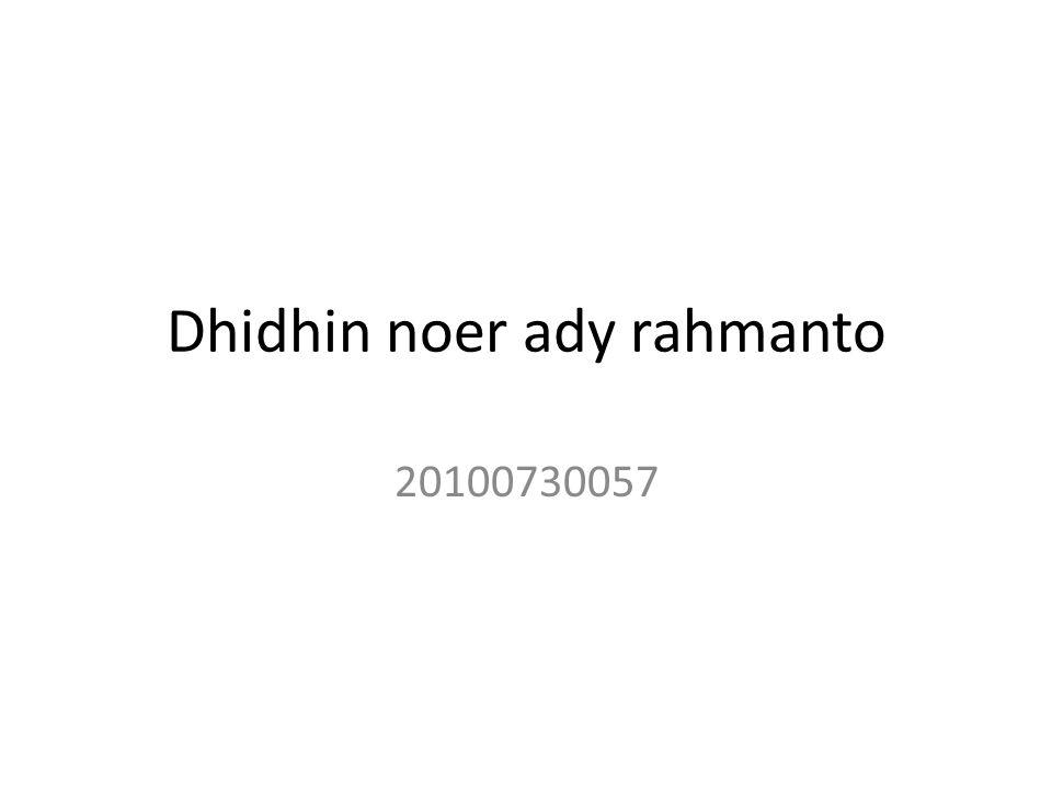 Dhidhin noer ady rahmanto