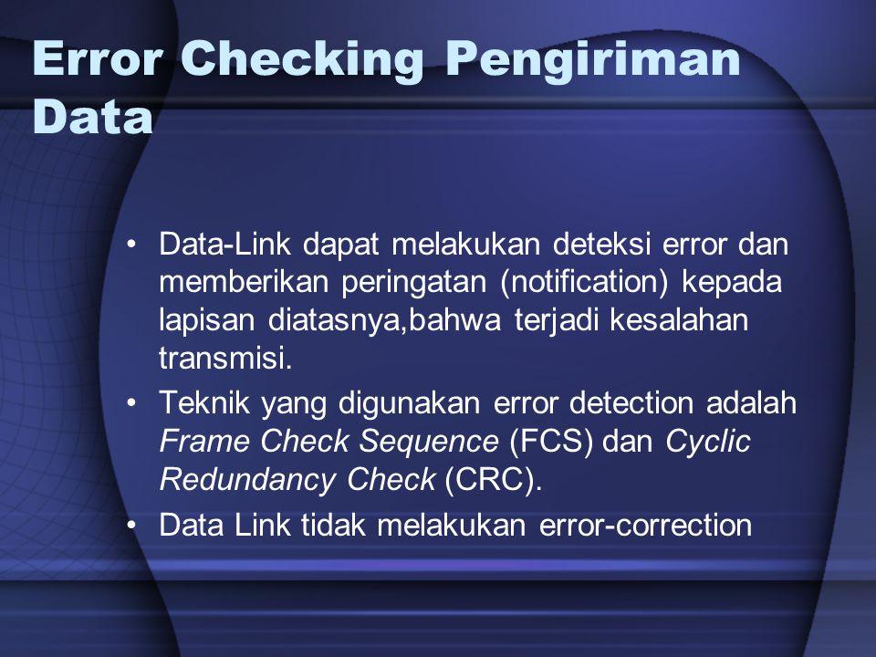 Error Checking Pengiriman Data