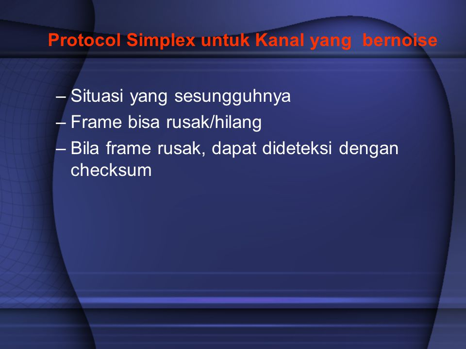 Protocol Simplex untuk Kanal yang bernoise