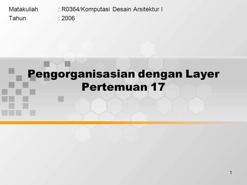Pengorganisasian dengan Layer Pertemuan 17