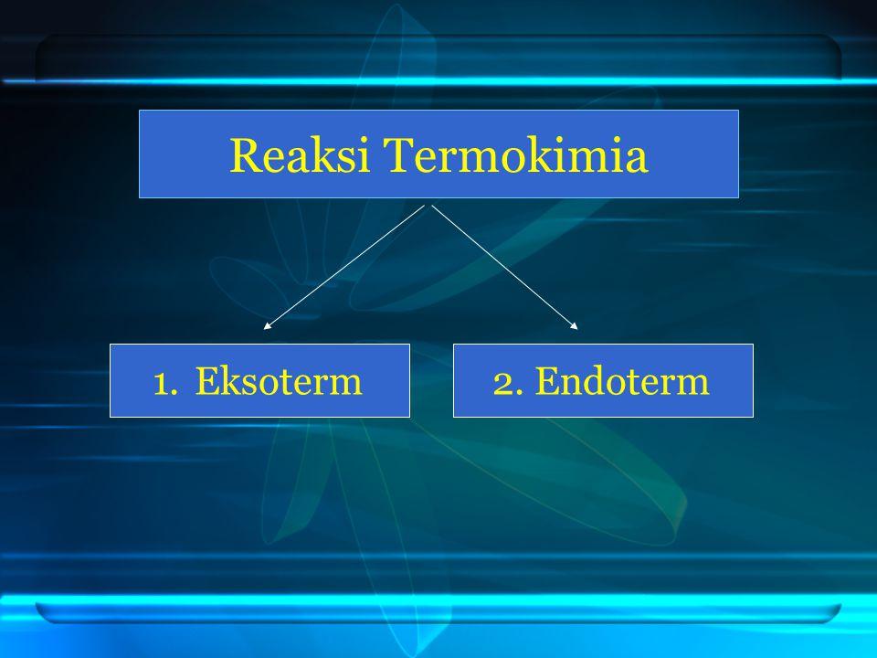 Reaksi Termokimia Eksoterm 2. Endoterm