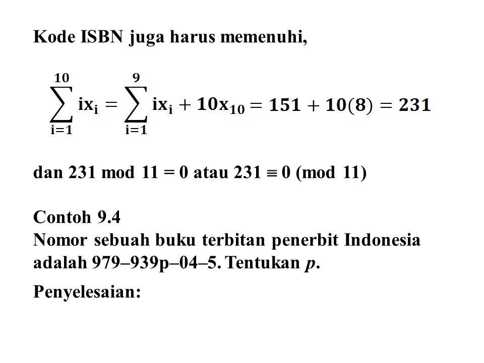 Kode ISBN juga harus memenuhi,