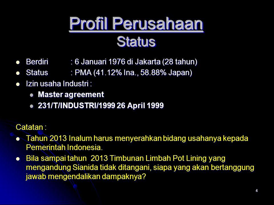 Profil Perusahaan Status