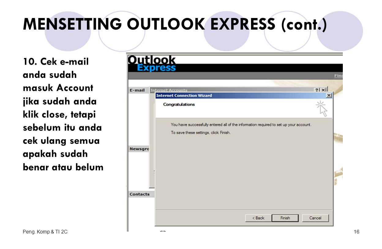 MENSETTING OUTLOOK EXPRESS (cont.)