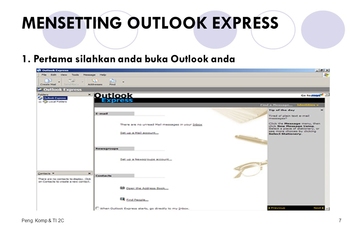 MENSETTING OUTLOOK EXPRESS