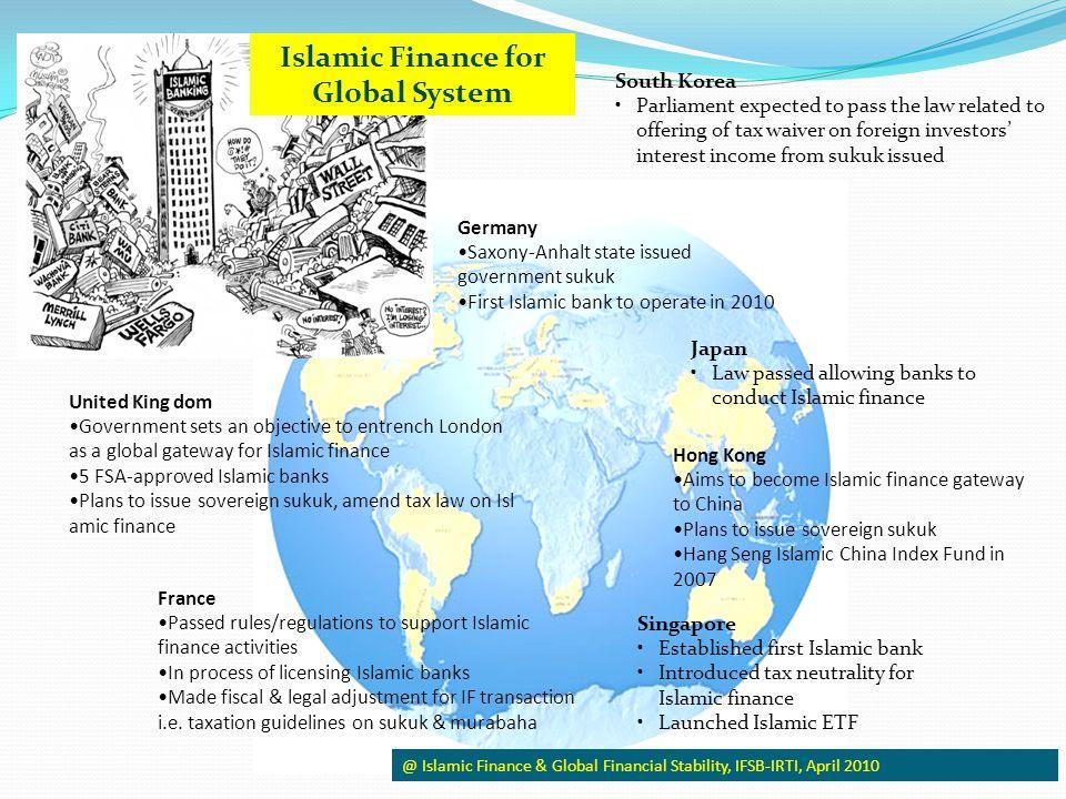 Islamic Finance for Global System