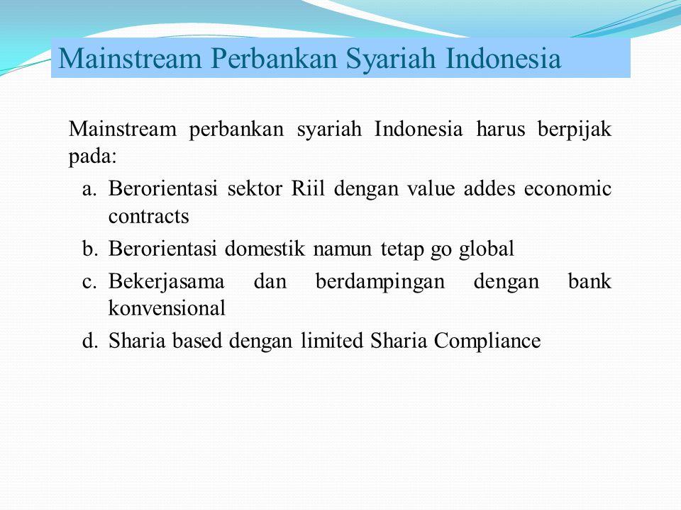 Mainstream Perbankan Syariah Indonesia