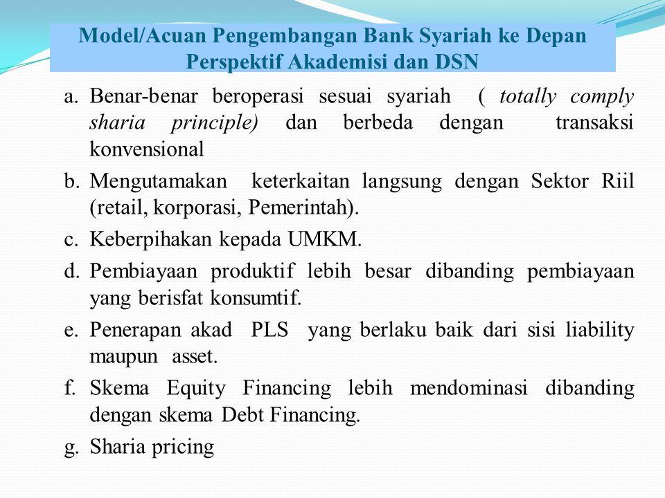 Model/Acuan Pengembangan Bank Syariah ke Depan Perspektif Akademisi dan DSN