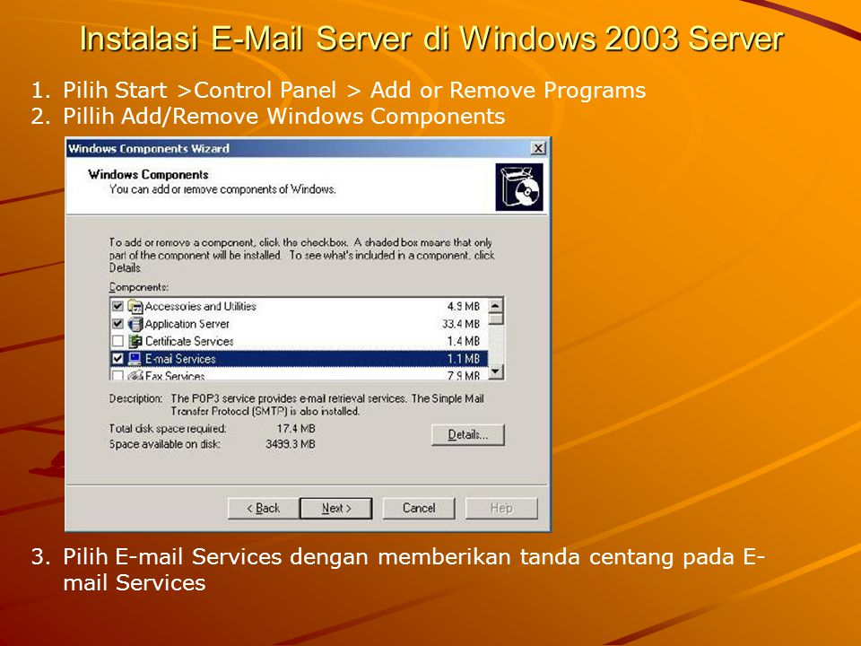 Instalasi E-Mail Server di Windows 2003 Server