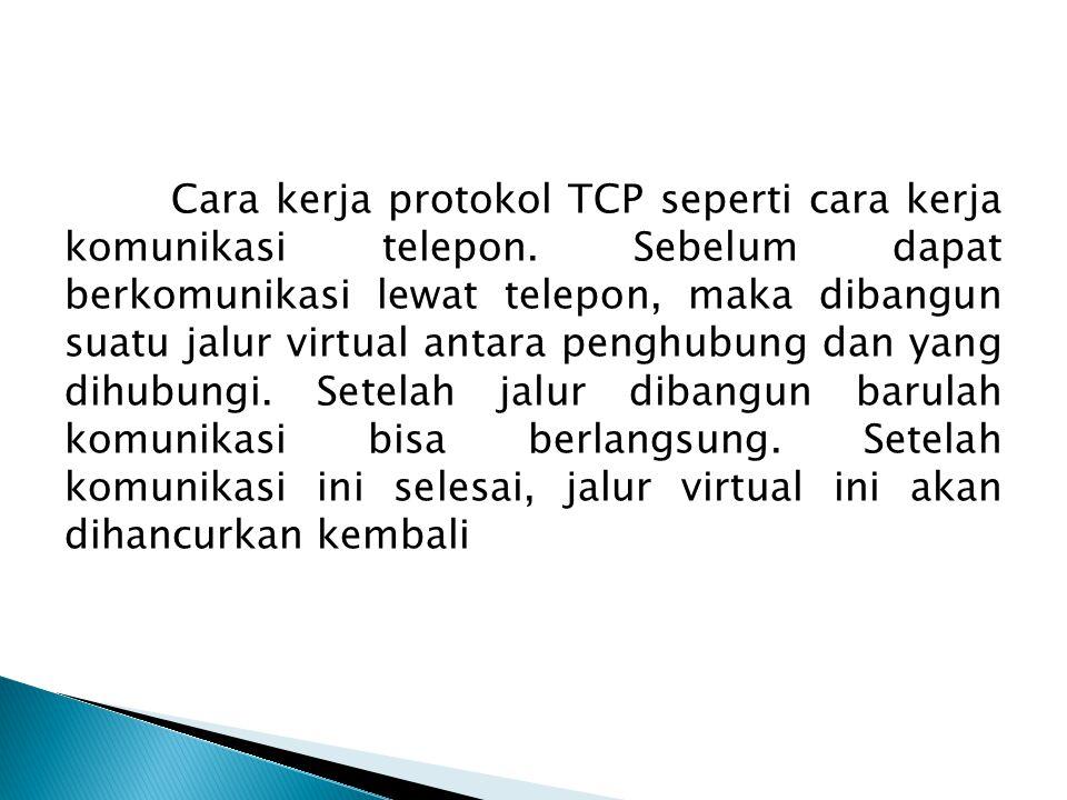 Cara kerja protokol TCP seperti cara kerja komunikasi telepon
