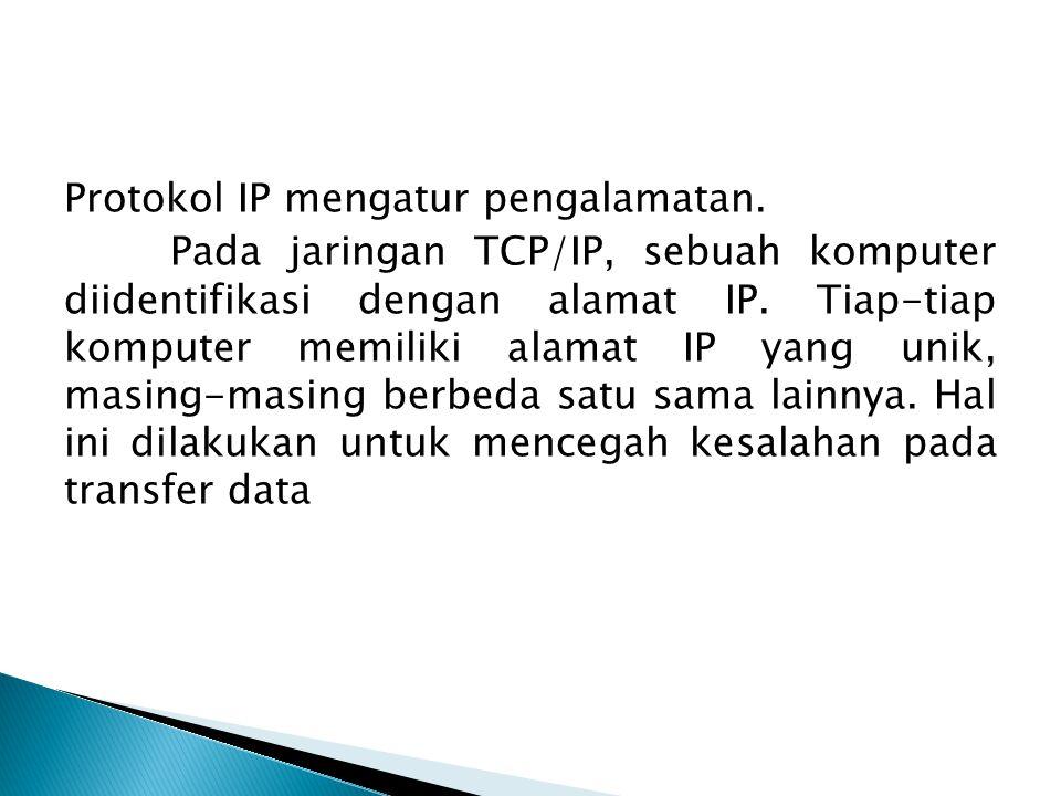 Protokol IP mengatur pengalamatan