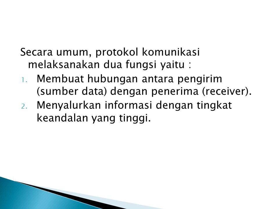 Secara umum, protokol komunikasi melaksanakan dua fungsi yaitu :