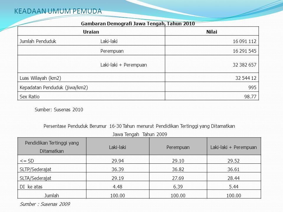 Gambaran Demografi Jawa Tengah, Tahun 2010