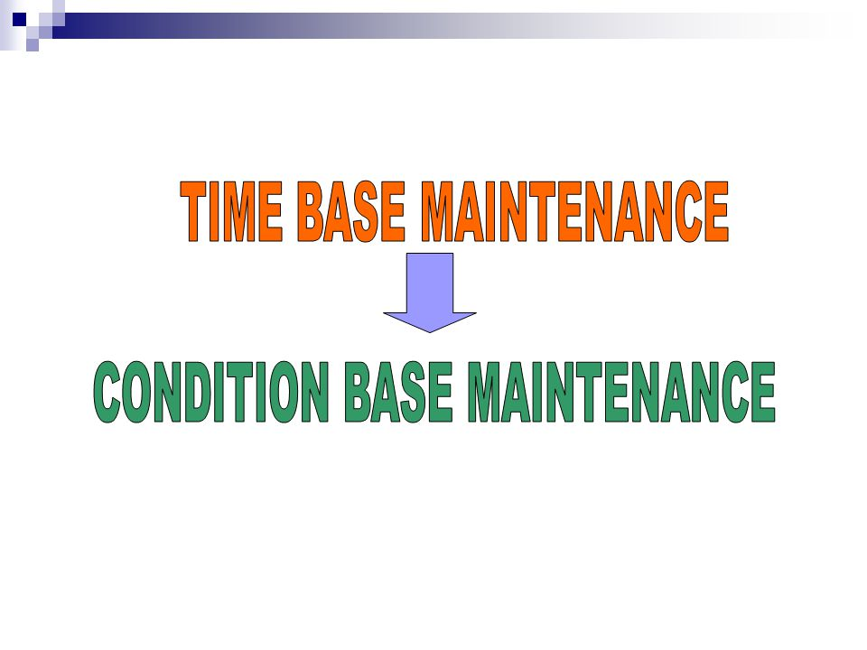 CONDITION BASE MAINTENANCE