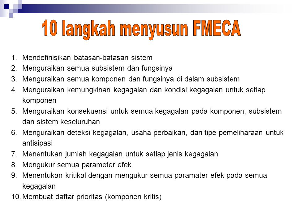 10 langkah menyusun FMECA