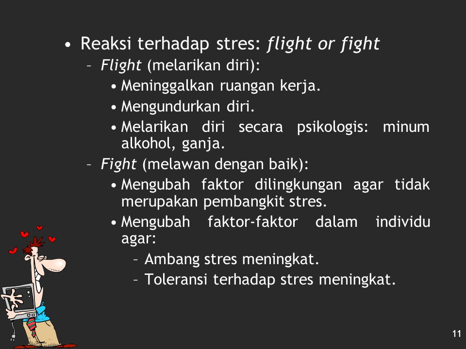 Reaksi terhadap stres: flight or fight