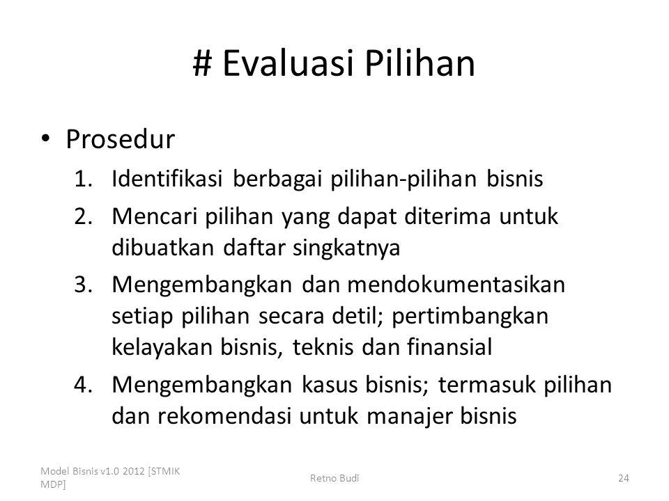 # Evaluasi Pilihan Prosedur