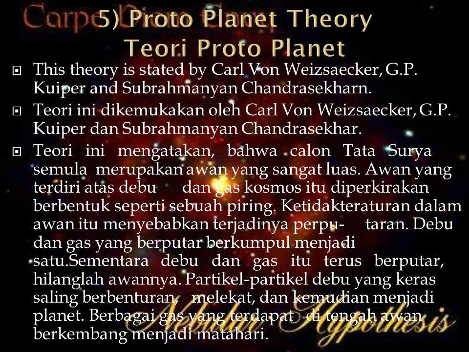 5) Proto Planet Theory Teori Proto Planet
