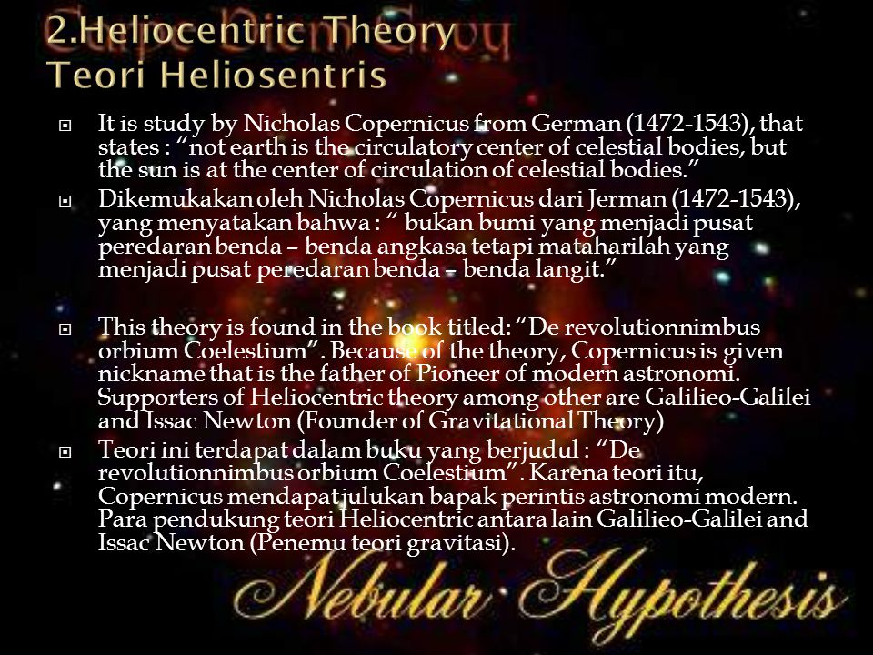 2.Heliocentric Theory Teori Heliosentris