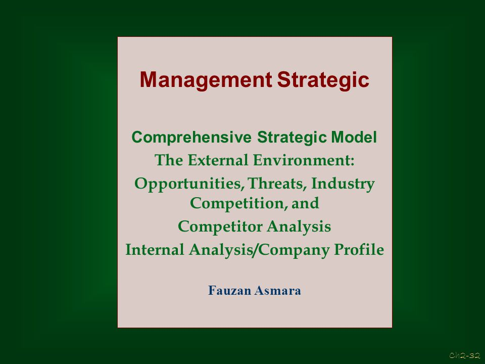 Management Strategic Comprehensive Strategic Model