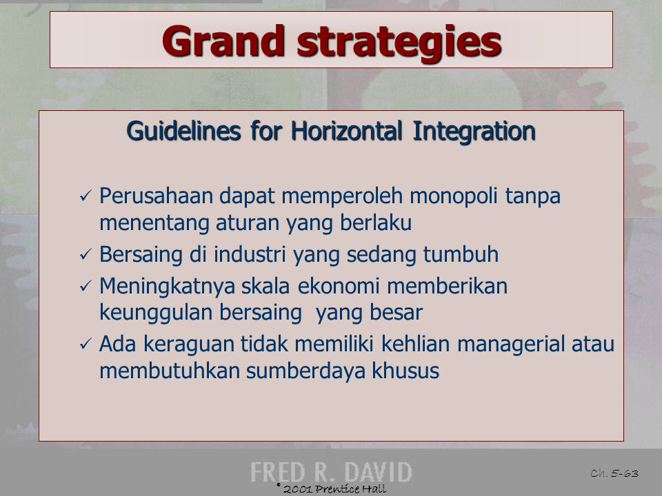 Guidelines for Horizontal Integration