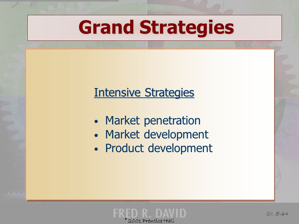 Grand Strategies Intensive Strategies Market penetration