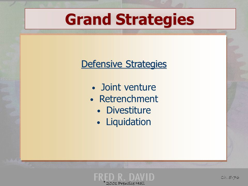 Grand Strategies Defensive Strategies Joint venture Retrenchment