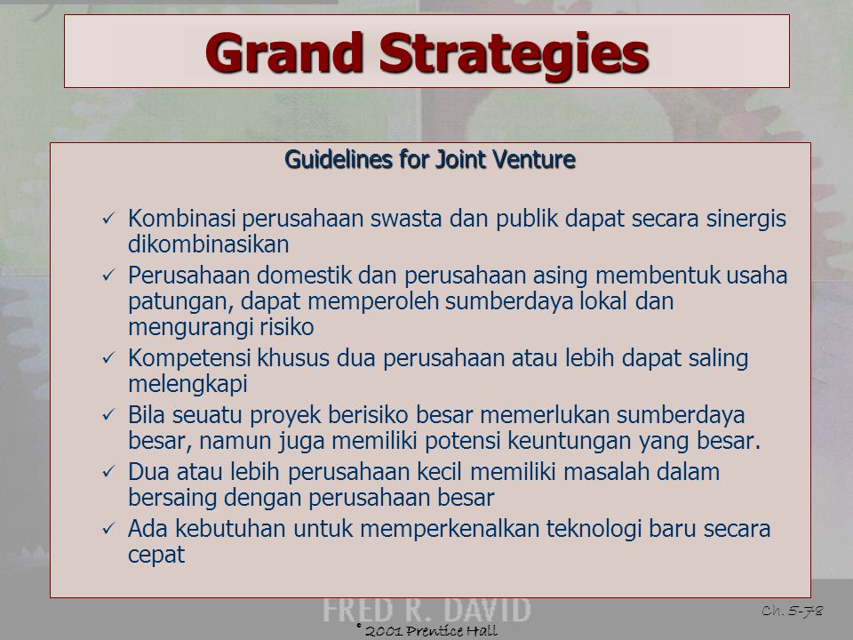 Guidelines for Joint Venture